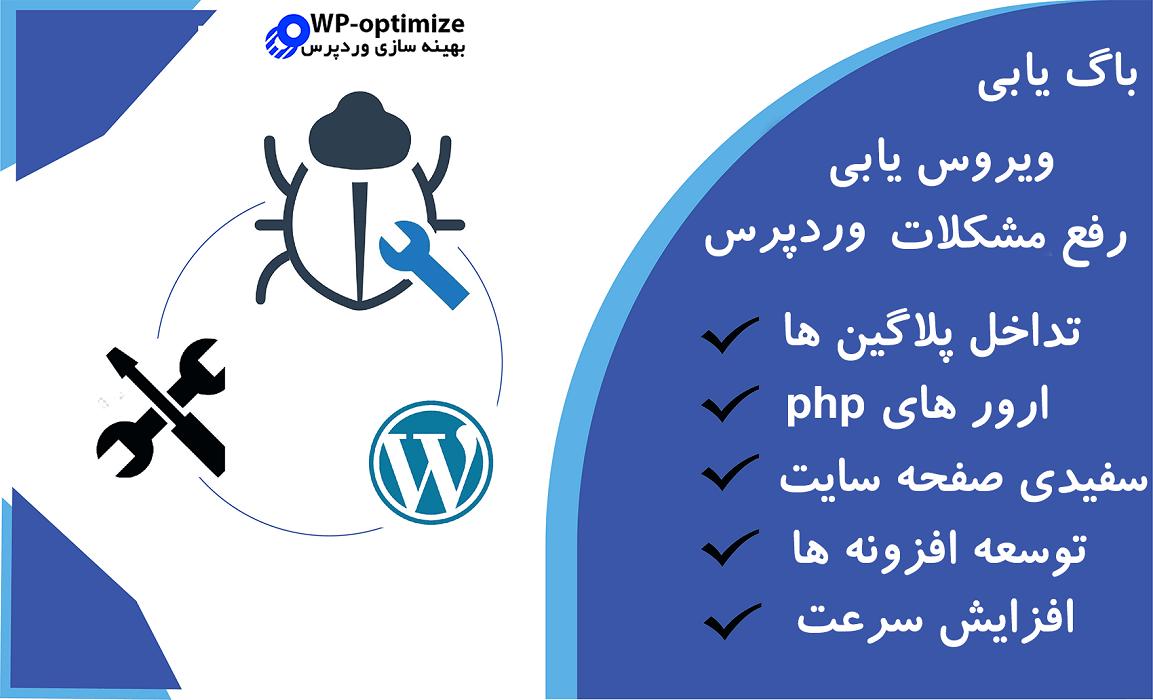 انجام خدمات افزایش سرعت و بهینه سازی رفع عیب و خطا توسعه پلاگین رفع تداخل سایت وردپرس